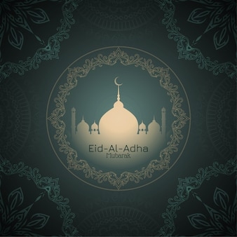 Eid-al-adha mubarak hermoso fondo de saludo