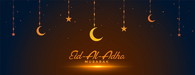 Eid al adha tradicional festival banner decorativo