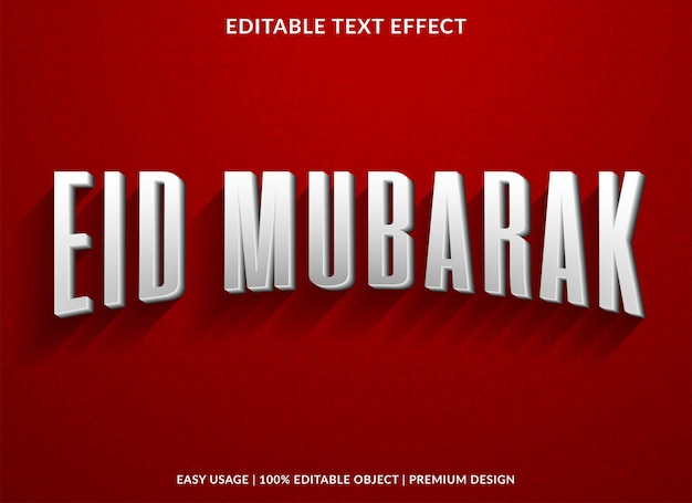 Eid mubarak con efecto de texto vintage