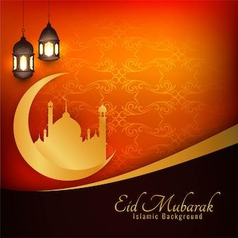 Eid mubarak islámica de fondo con estilo