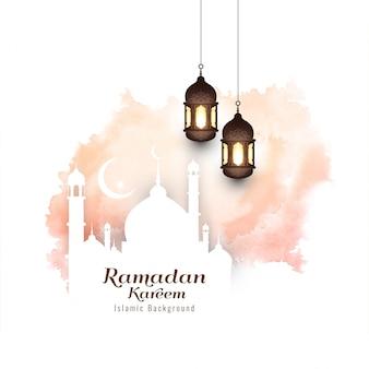 Eid mubarak moderno fondo islámico