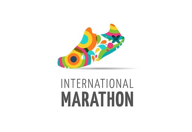 Ejecutar icono símbolo maratón logo