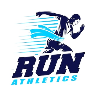 Ejecute el logotipo de atletismo