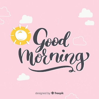 Ejemplo creativo de la buena mañana de las letras