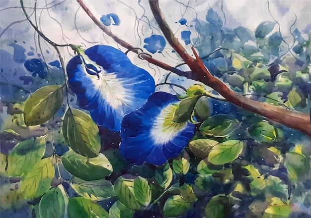 Ejemplo dibujado mano hermosa del bosquejo de la acuarela de la flor