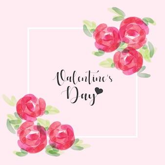 Ejemplo dibujado mano del vector del día de tarjeta del día de san valentín