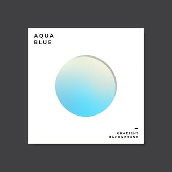 Ejemplo de diseño de fondo degradado holográfico azul
