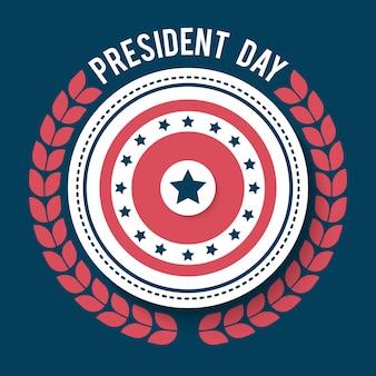 Ejemplo feliz del día del presidente. cartel del día del presidente americano.
