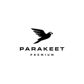 Ejemplo del icono del vector del logotipo del pájaro del periquito