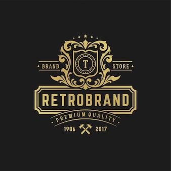 Ejemplo de lujo del vector de la plantilla del diseño del logotipo de la letra t.