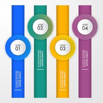 Ejemplo de la plantilla del diseño de infographics del negocio