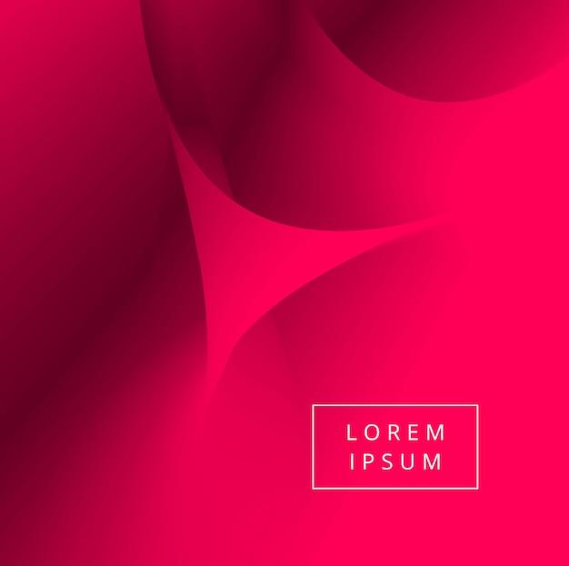 Ejemplo rojo creativo abstracto del fondo de la onda