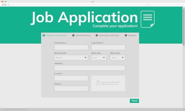 Ejemplo de solicitud de empleo