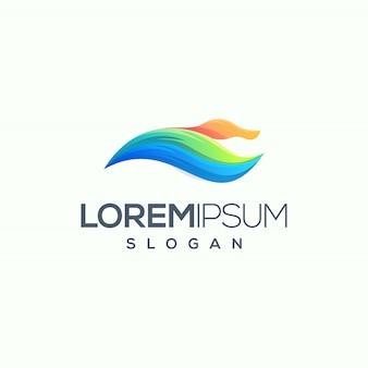 Ejemplo del vector del diseño del logotipo del pato listo para utilizar