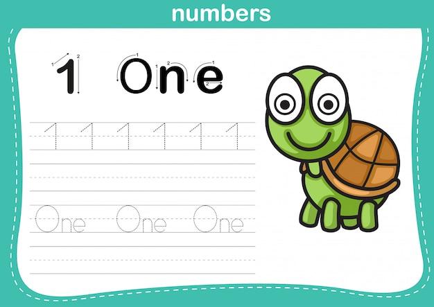 Ejercicio de conexión de puntos y números imprimibles.