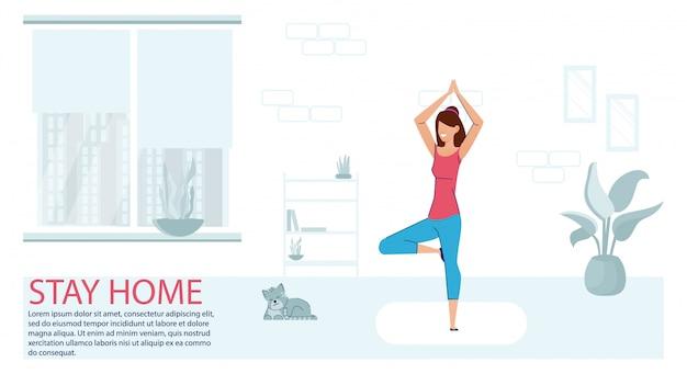 Ejercicio deportivo en casa. fitness workout yoga ejercicio mujer.
