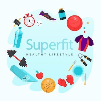 Ejercicio deportivo. hora de ponerse en forma y hacer ejercicio