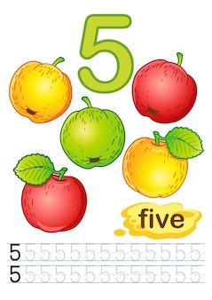 Ejercicios para escribir números.