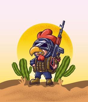 Ejército ganador de pollo