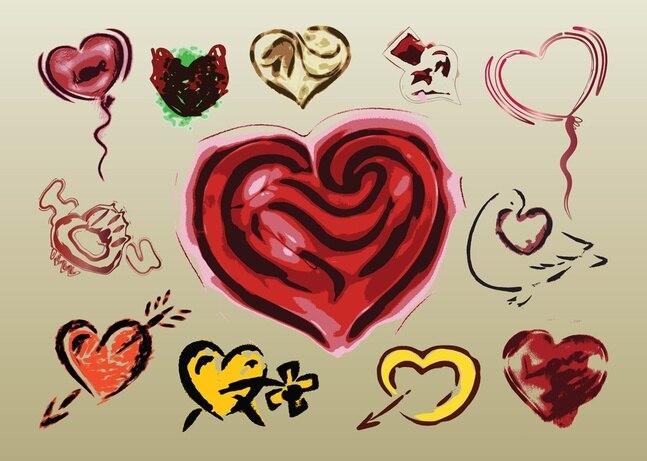 El amor de ilustraciones vectoriales