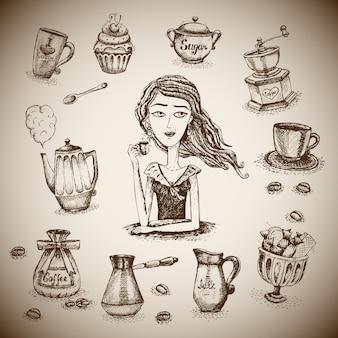 El amor de la escena del café