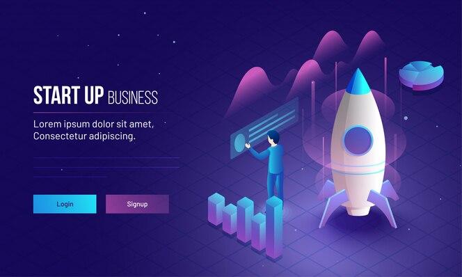 El emprendedor analiza el crecimiento o éxito de su empresa.