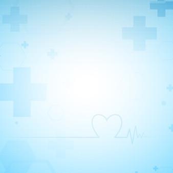 El fondo abstracto azul salud