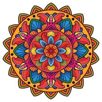 El hermoso y colorido arte mandala
