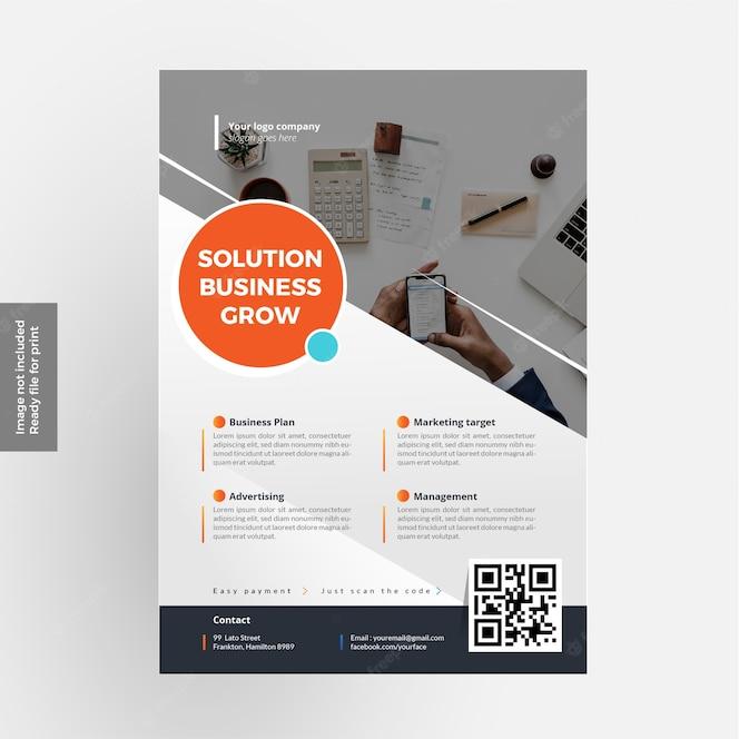 El mejor diseño de negocios flyer