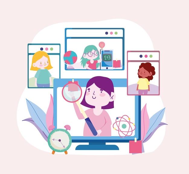Elearning de educación en línea