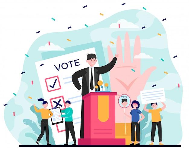 Elección y campaña política.
