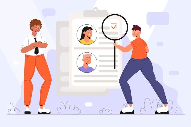 Elección de la ilustración del concepto de trabajador