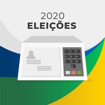 Elecciones 2020 brasil ilustración