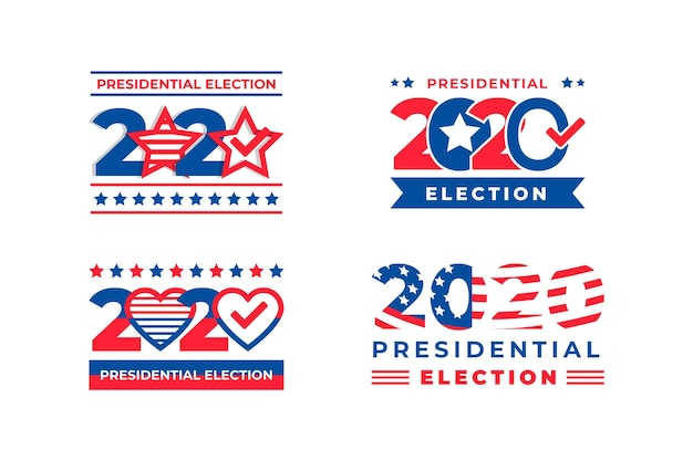 Elecciones presidenciales de 2020 en los logotipos de ee. uu.
