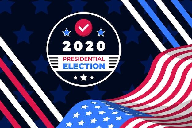 Elecciones presidenciales creativas de 2020 en el fondo de ee. uu.