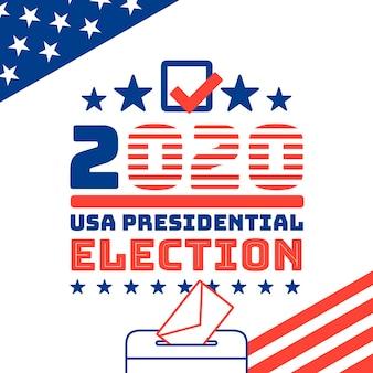 Elecciones presidenciales de ee. uu. ilustradas en el concepto de 2020