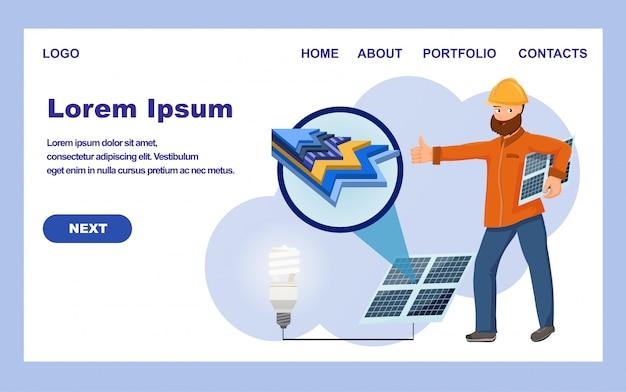 Electricidad del sistema de generación solar