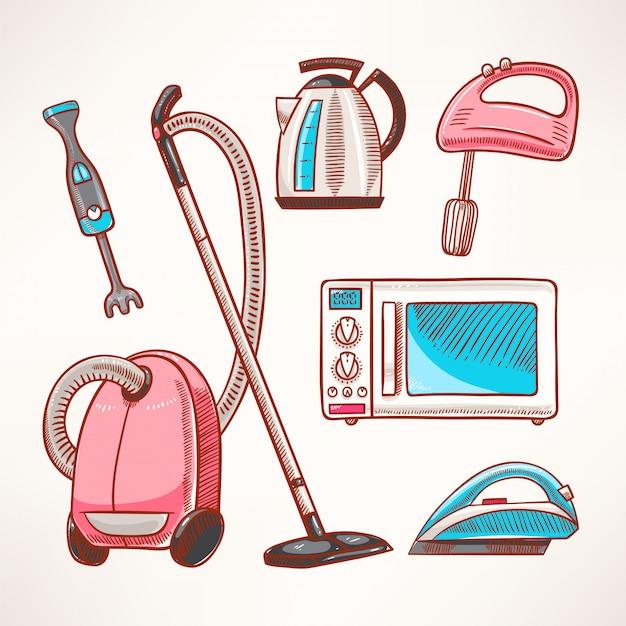 Electrodomésticos de colores para el hogar