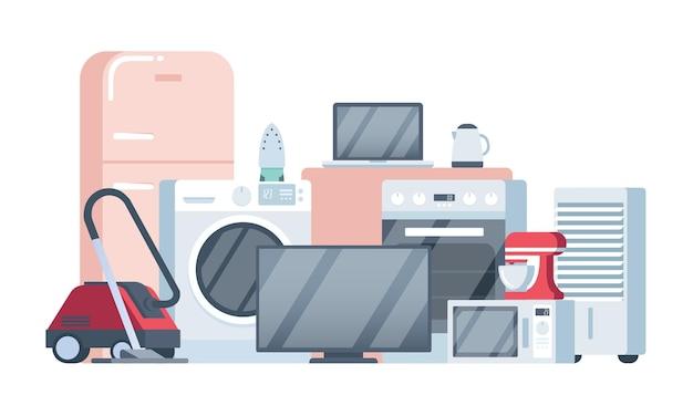 Electrodomésticos y dispositivos electrónicos.