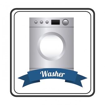 Electrodomésticos sobre fondo blanco