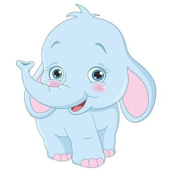 Elefante de dibujos animados