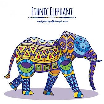 Elefante decorado nativo