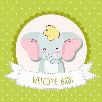 Elefante de la ducha del bebé