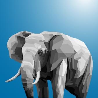 Elefante gris en estilo pop art