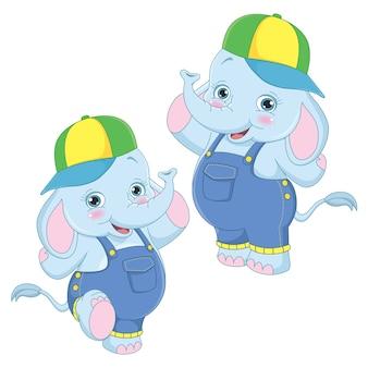 Elefantes de dibujos animados