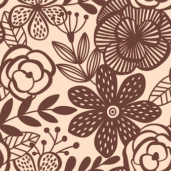 Elegancia abstracta de patrones sin fisuras con fondo floral