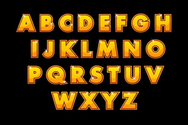 Elegante alfabeto dorado