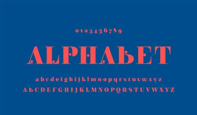 Elegante alfabeto minimalista