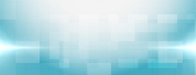 Elegante banner médico azul con espacio de texto