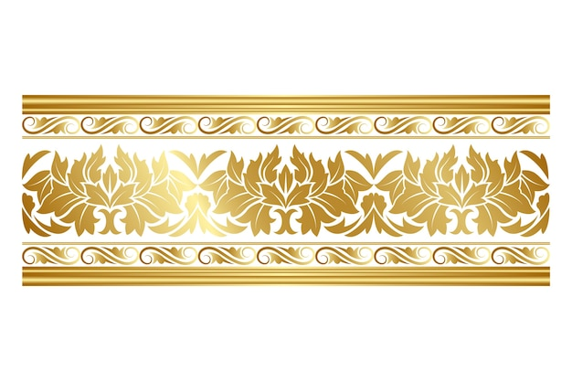 Elegante borde dorado ornamental